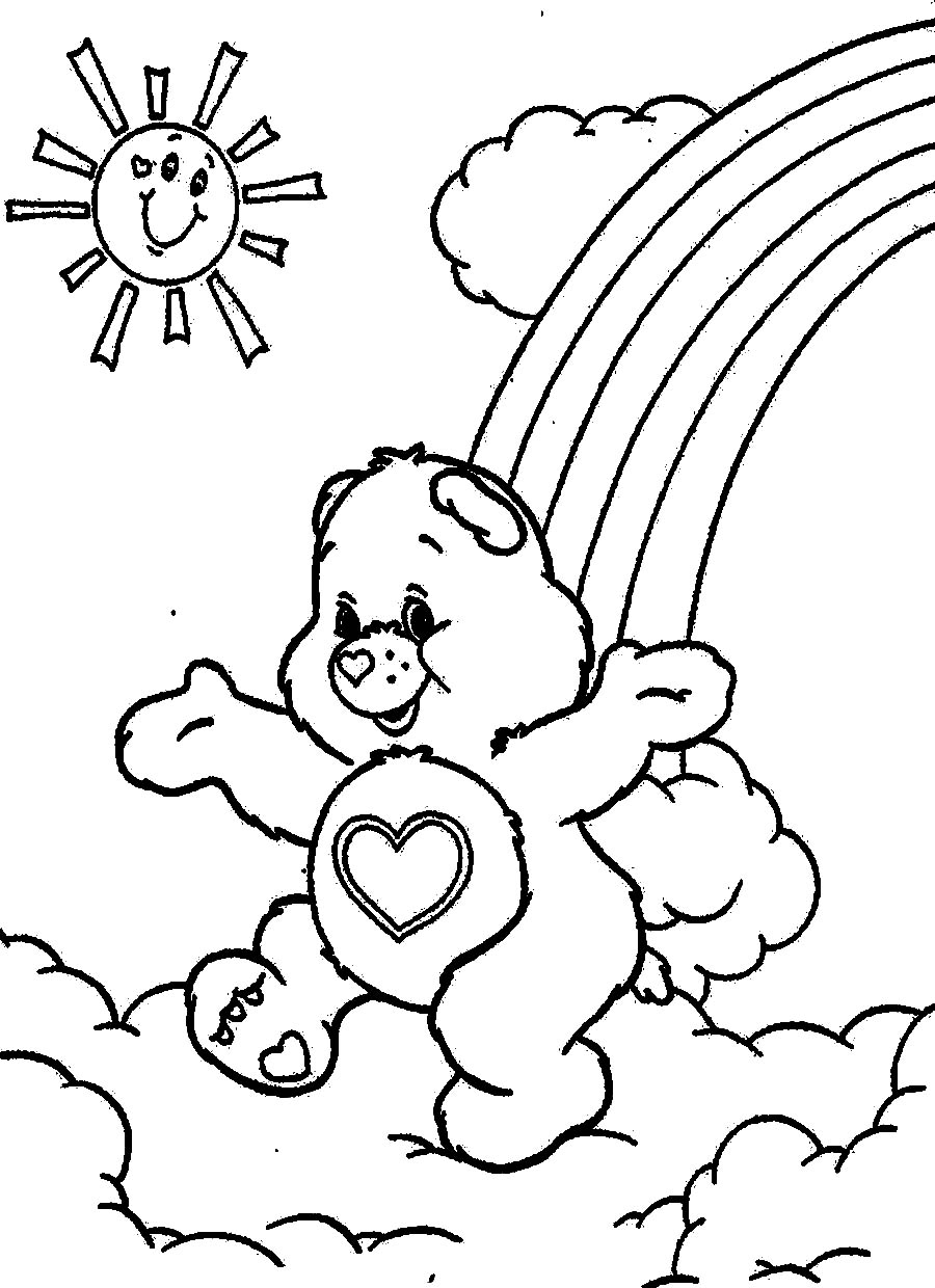 Cartoon Coloring For Kids: Care Bears Coloring Pages