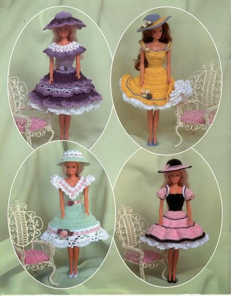 Crochê Para Bonecas Barbie - Receitas em Inglês - Patterns Revista Summer Time Fashions