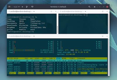 Terminix GTK3 terminal emulator