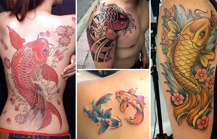 koi fish tattoos  koi balığı dövmeleri