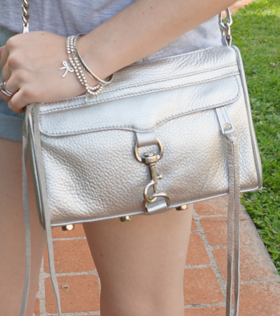 metallic silver RM mini MAC bag