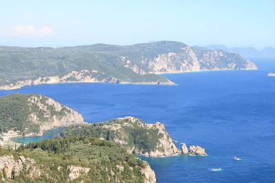 Landscapes of the island from the fortress Angelokastro. Corfu. Greece.  Пейзажи острова от крепости Ангелокастро. Корфу. Греция.