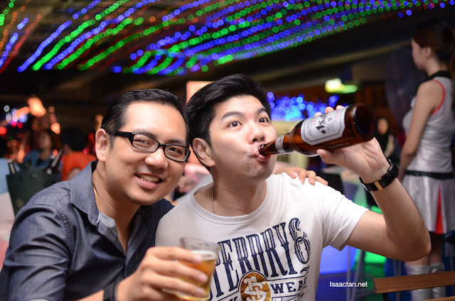 Ah Bok seems to love his beer a lot