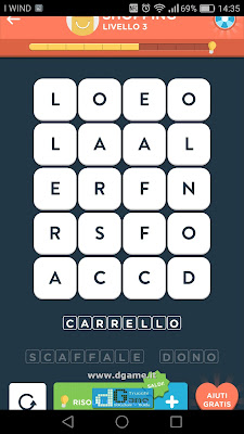 WordBrain 2 soluzioni: Categoria Shopping (4X5) Livello 3