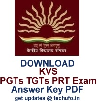 kvs answer key 2017 download pgt tgt prt teacher 07th 08th jan