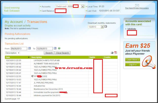 pembayaran infolinks, infolinks payoneer