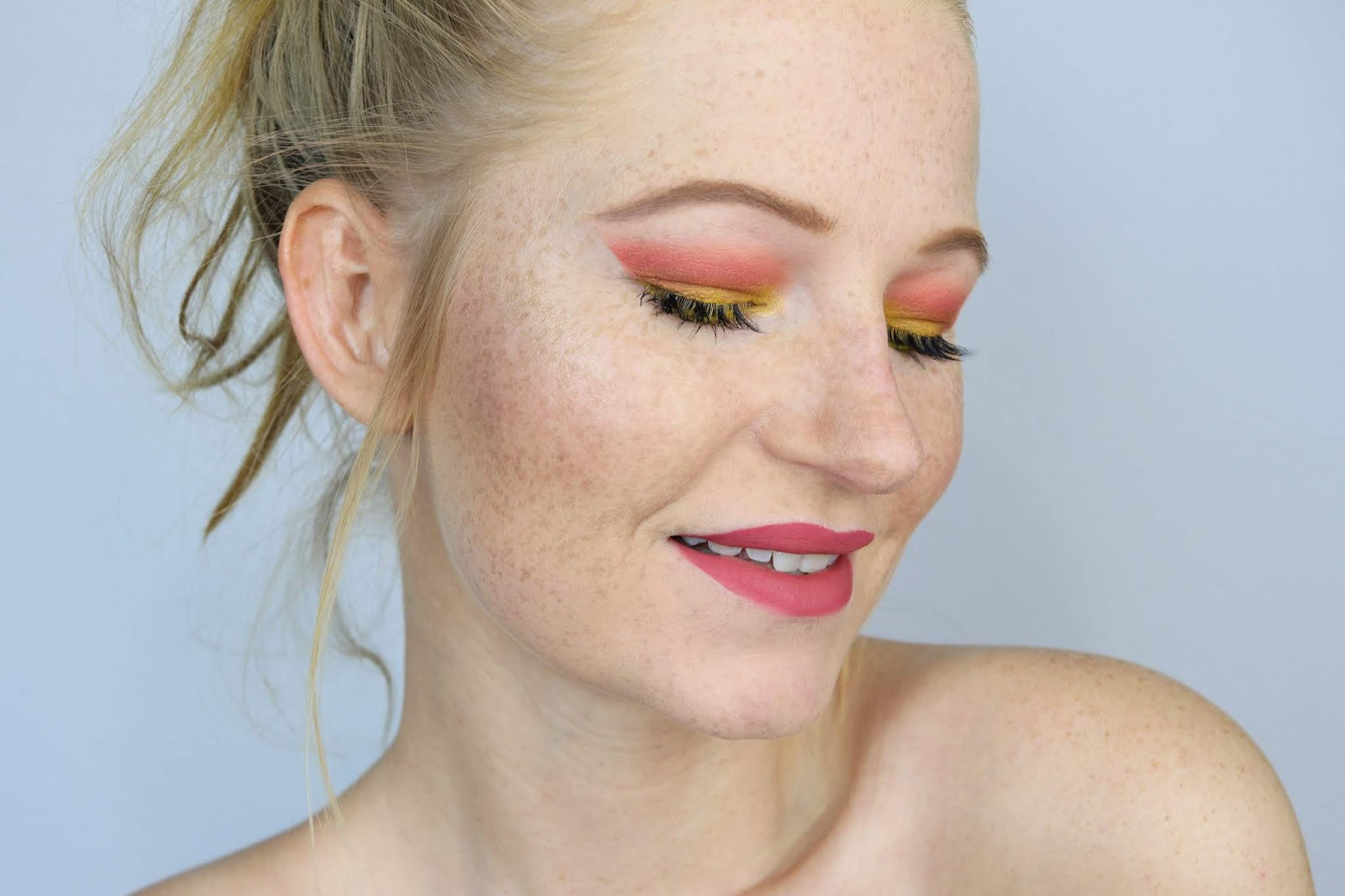 amu, beauty blogger hamburg, colourpop, eyeshadow, frühling, lidschatten, lidschatten 1×1 orange gelb, liquid lipstick, make-up, orange yellow, sommer make-up, summer look, talasia.de blogparade,