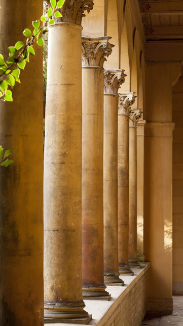 Row of columns in Potsdam, Germany