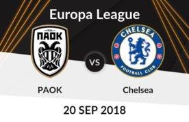Prediksi UEFA Liga Eropa PAOK vs Chelsea 20 September 2018 Pukul 23.55 WIB