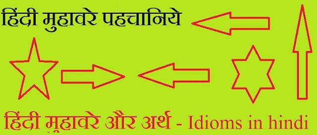Hindi mhuhavre aur arth