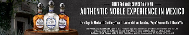 "Casa Noble Imports is giving you a chance to enter daily to win a trip to Mexico with a tour of their distillery and a meet and greet with their founder ""Pepe"" Hermosillo, spending money and more!"
