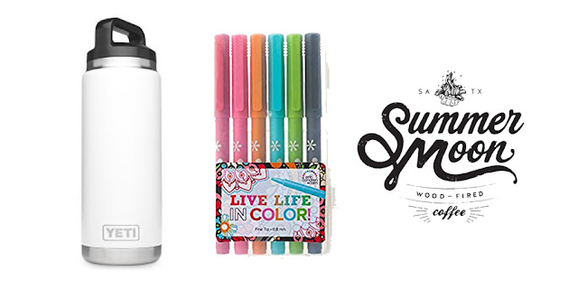 Yeti Water Bottle, Erin Condren Planner Pens, Summermoon Coffee Bar, College Blogger, Lifestyle Blogger