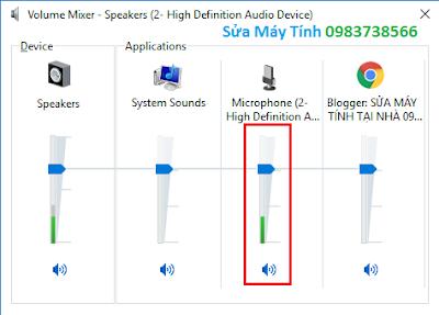 Cách bật Microphone trong win 10 - H06