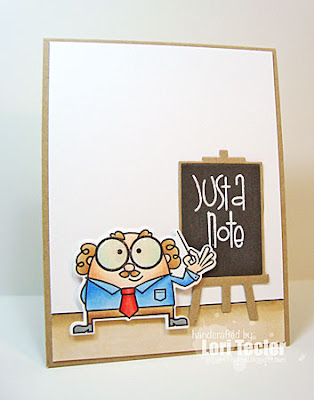 Just a Note card-designed by Lori Tecler/Inking Aloud-stamps and dies from Paper Smooches