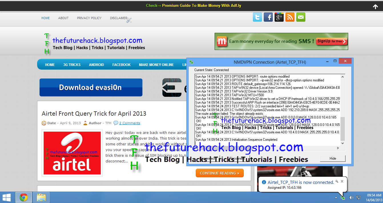 New TCP VPN Trick For Airtel - 14 April 2013 ~ tutorial about web