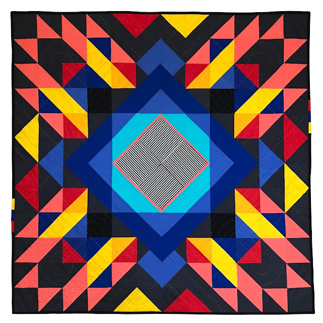 Diaspora quilt designed and made by Pachy Sarmiento-Bull @psbquilts