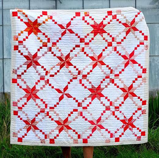 Red and White Star Quilt Free Tutorial