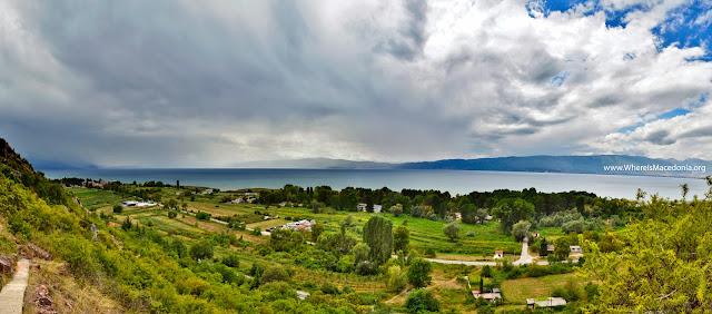 Ohrid Lake - view from Cave church - St. Erasmos near Ohrid, Macedonia