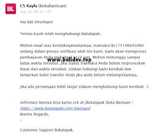 Email CS bukalapak