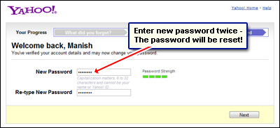 how do you change your yahoo password
