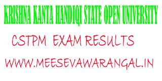 Krishna Kanta Handiqi State Open University CSTPM -2016 Exam Results