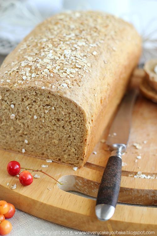 drożdżowy chleb owsiany który wyrasta przez noc
