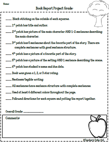 Book Reports for Reading