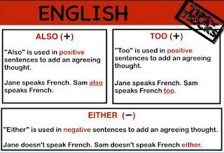 Google Image - Panduan menggunakan Also, Too, Either dalam Bahasa Inggris