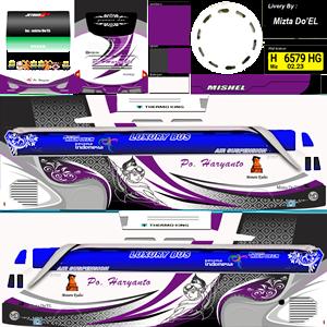 Livery Bussid SHD Haryanto Arjuna Purple