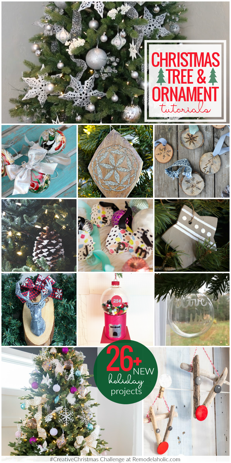Christmas Tree Ornaments tutorials
