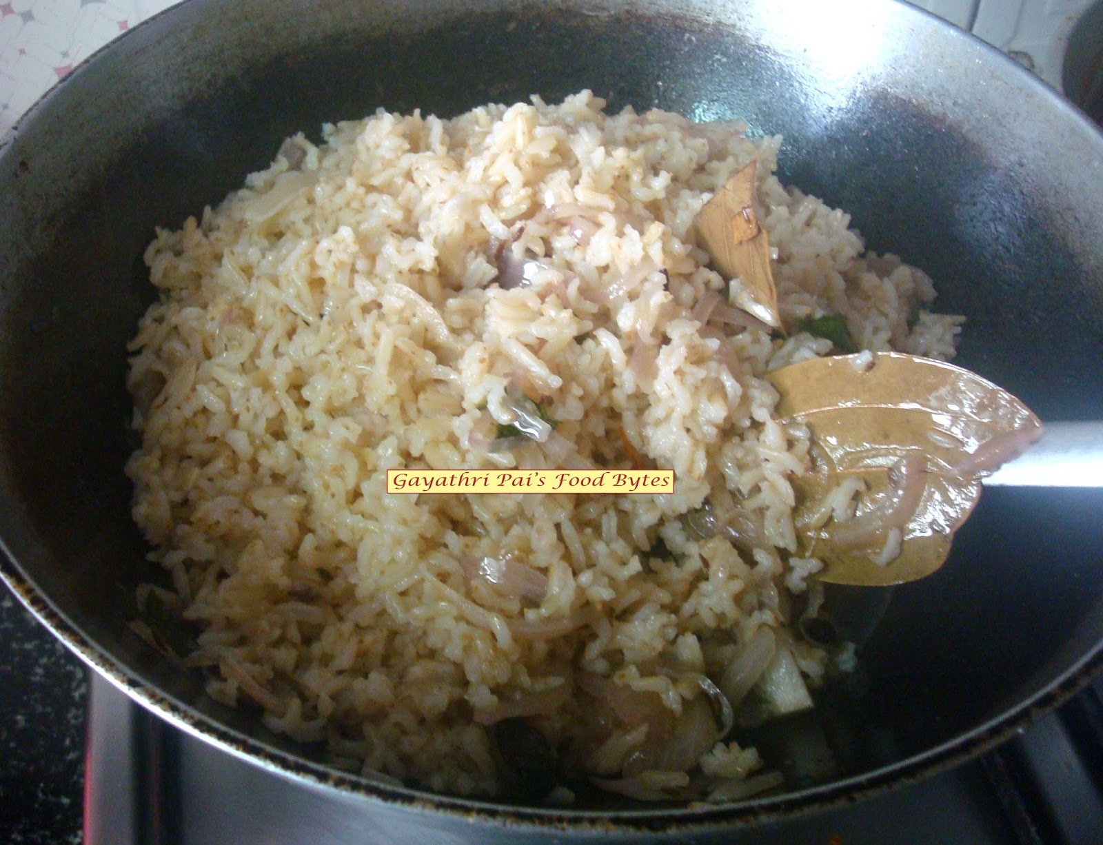 Now Add In The Cooked Brown Basmati Rice And Mix Well, Let Cook On Slow