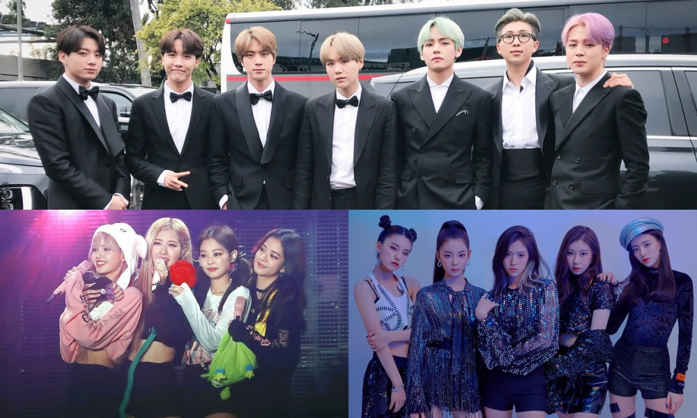 The Most Popular Line of K-Pop Groups in February 2019