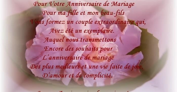 Texte Anniversaire De Mariage Beaux Parents