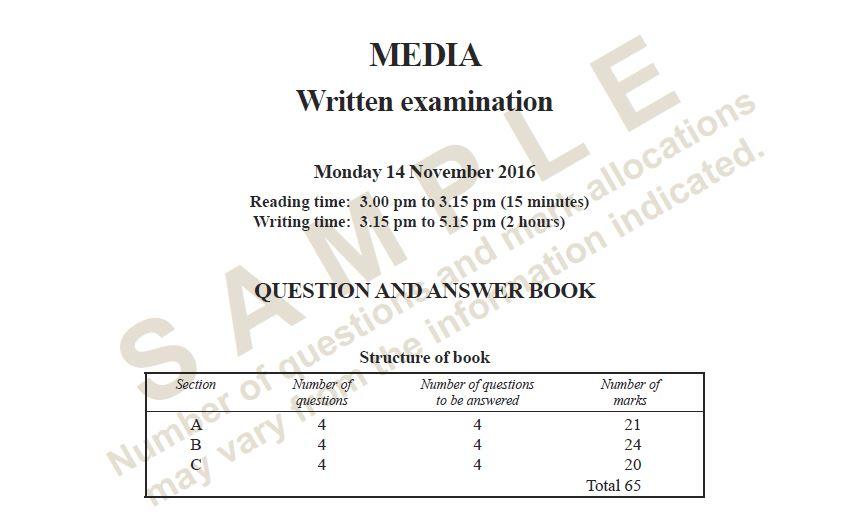 2016 Media Exam Cover Sheet | olmc media