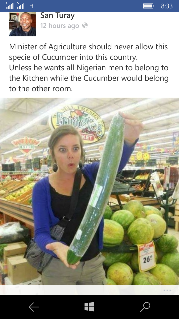 Sex with food big cucumber
