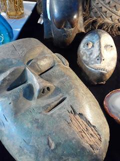 Mascara africana del desembalaje de Arriondas #antiguedades