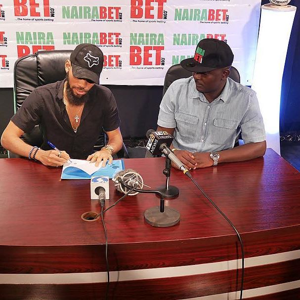 Akin Alabi and Phyno in Lagos to renew Phyno's Multi-million naira Contract.