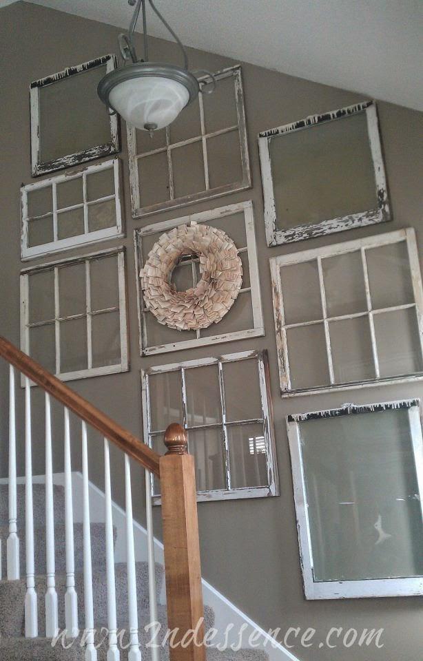 Decorated Old Windows - Home Decorating Ideas & Interior Design