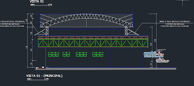 Gas plant project in AutoCAD