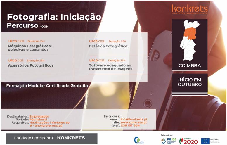 Formação financiada pós-laboral (para empregados) em Coimbra