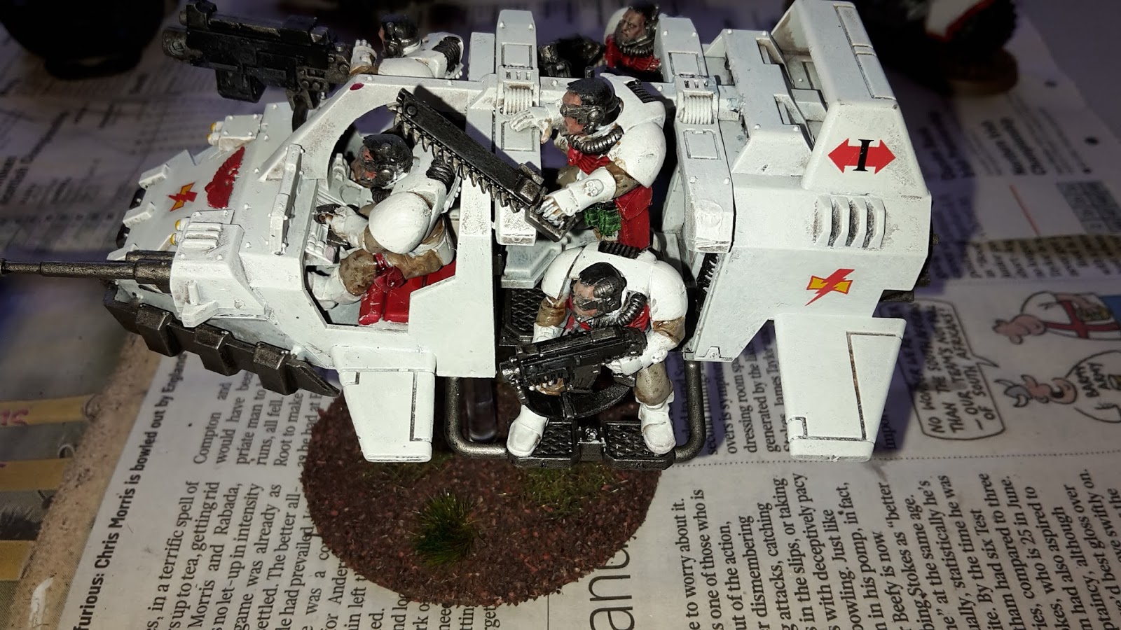 Painting White Scars Vehicles