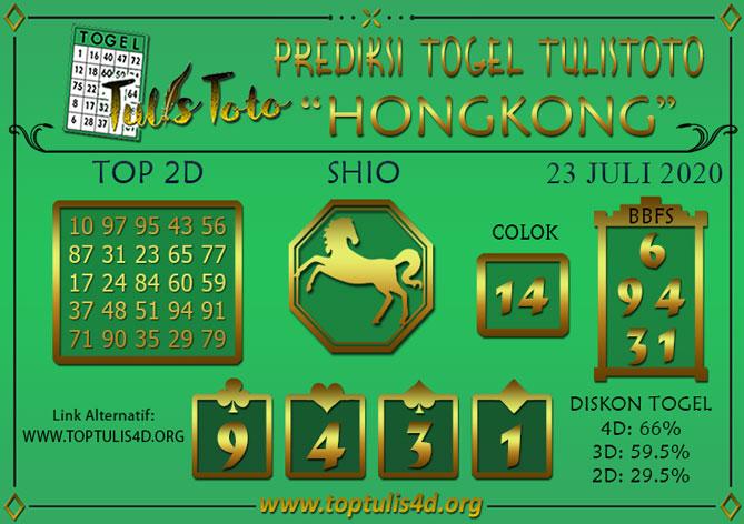 Prediksi Togel HONGKONG TULISTOTO 23 JULI 2020