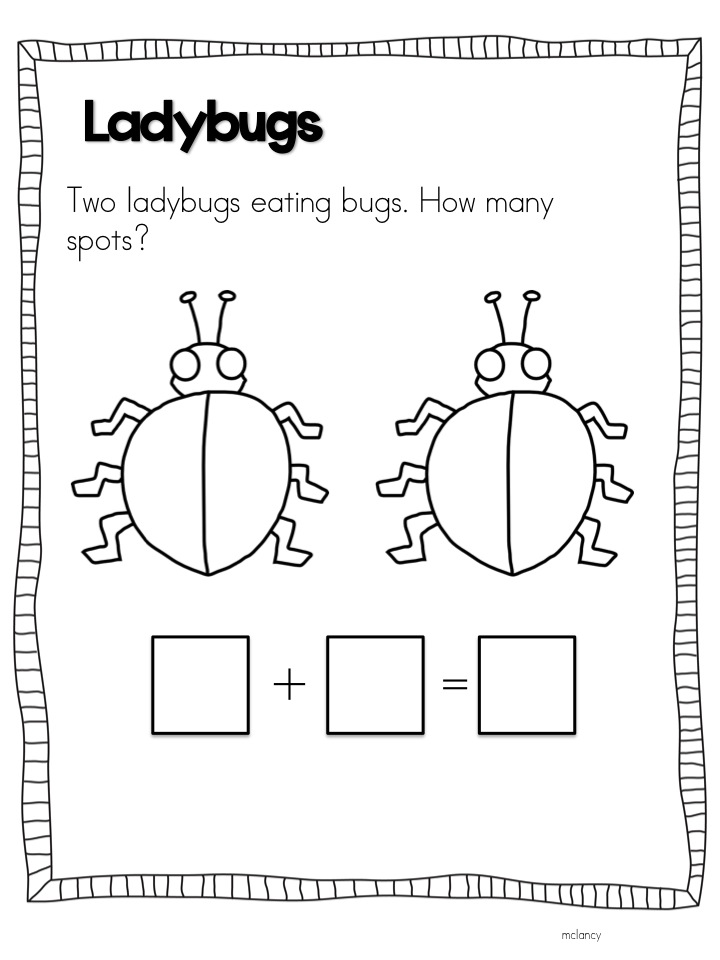 Joyful Learning In KC: Ladybug Math