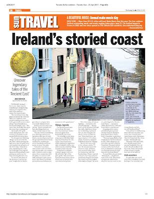 Ireland's storied coast Pg.58 Toronto Sun. Photograph by Janie Robinson, Travel Writer