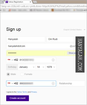 Daftar Akun Email Yahoo Gratis