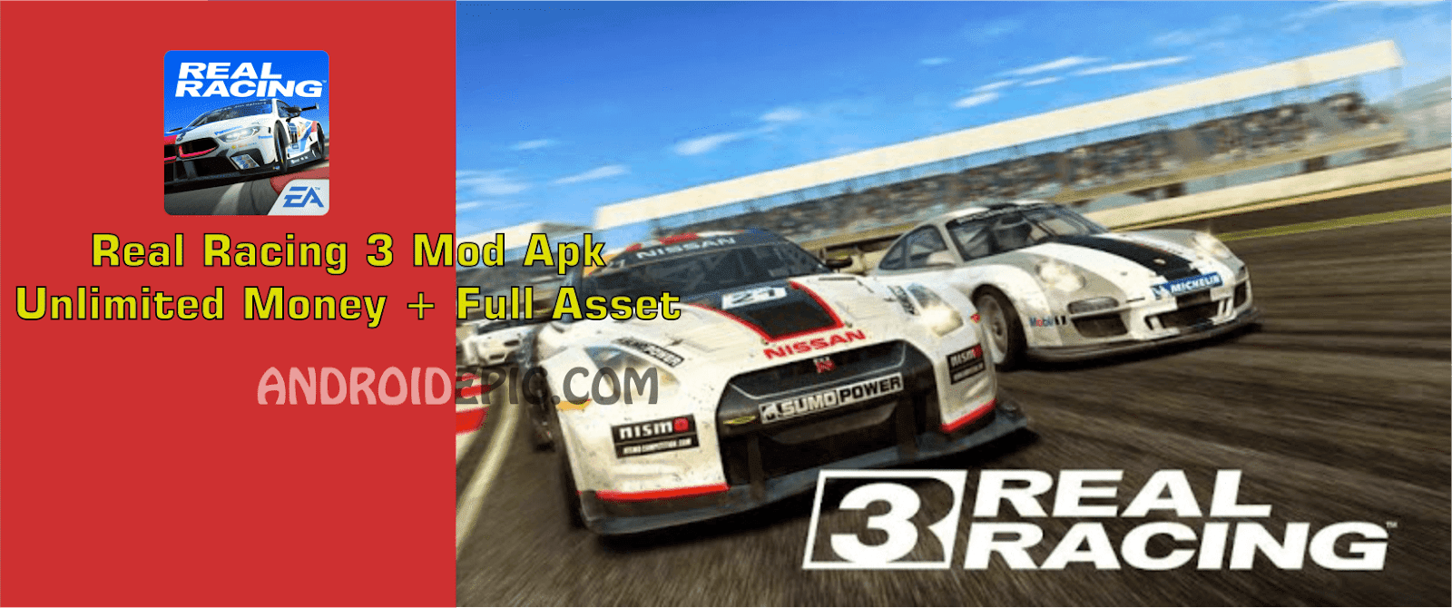 Real racing 3 mod apk mod money full asset android epic