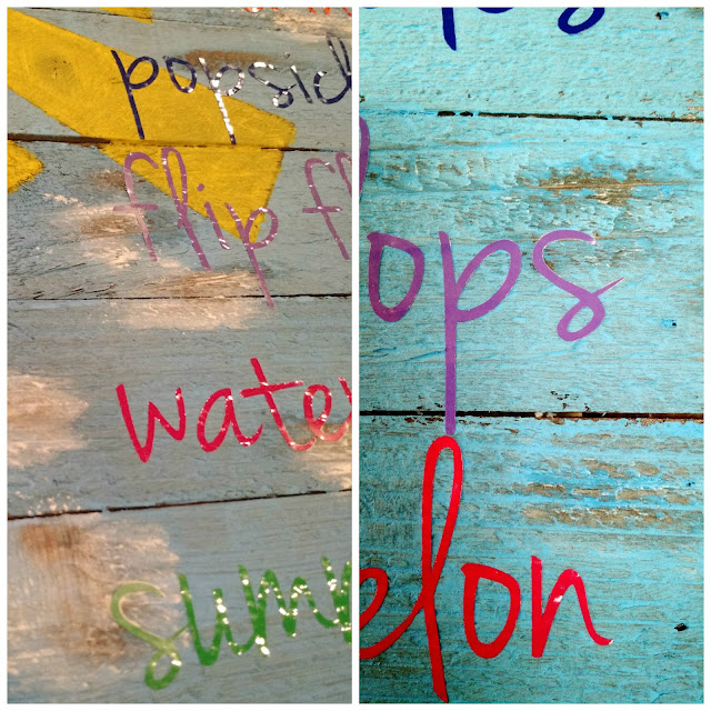 Summer Pallet Art--a fun and easy way to brighten up your home for the summer!