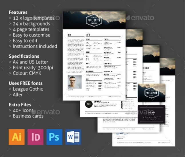 (click Image For Details)  Resume Templates Indesign
