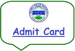 NGBU Admit Card 2020