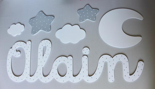 letras y nombres con siluetas, para decoración habitación infantil